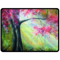 Forests Stunning Glimmer Paintings Sunlight Blooms Plants Love Seasons Traditional Art Flowers Sunsh Fleece Blanket (large)