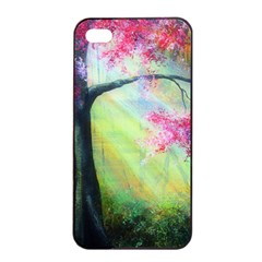 Forests Stunning Glimmer Paintings Sunlight Blooms Plants Love Seasons Traditional Art Flowers Sunsh Apple Iphone 4/4s Seamless Case (black)