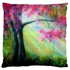 Forests Stunning Glimmer Paintings Sunlight Blooms Plants Love Seasons Traditional Art Flowers Sunsh Large Cushion Case (two Sides)