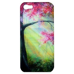 Forests Stunning Glimmer Paintings Sunlight Blooms Plants Love Seasons Traditional Art Flowers Sunsh Apple Iphone 5 Hardshell Case