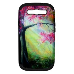 Forests Stunning Glimmer Paintings Sunlight Blooms Plants Love Seasons Traditional Art Flowers Sunsh Samsung Galaxy S Iii Hardshell Case (pc+silicone)