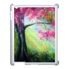 Forests Stunning Glimmer Paintings Sunlight Blooms Plants Love Seasons Traditional Art Flowers Sunsh Apple Ipad 3/4 Case (white)
