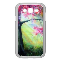 Forests Stunning Glimmer Paintings Sunlight Blooms Plants Love Seasons Traditional Art Flowers Sunsh Samsung Galaxy Grand Duos I9082 Case (white)