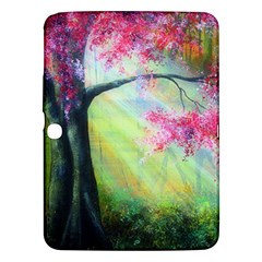 Forests Stunning Glimmer Paintings Sunlight Blooms Plants Love Seasons Traditional Art Flowers Sunsh Samsung Galaxy Tab 3 (10 1 ) P5200 Hardshell Case