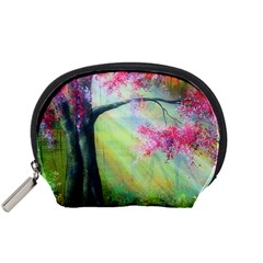 Forests Stunning Glimmer Paintings Sunlight Blooms Plants Love Seasons Traditional Art Flowers Sunsh Accessory Pouches (small)