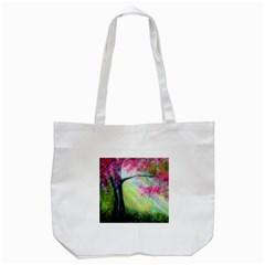 Forests Stunning Glimmer Paintings Sunlight Blooms Plants Love Seasons Traditional Art Flowers Sunsh Tote Bag (white)