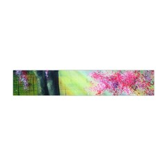 Forests Stunning Glimmer Paintings Sunlight Blooms Plants Love Seasons Traditional Art Flowers Sunsh Flano Scarf (mini)