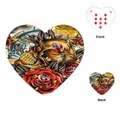 Flower Art Traditional Playing Cards (heart)