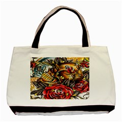 Flower Art Traditional Basic Tote Bag (two Sides)