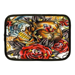 Flower Art Traditional Netbook Case (medium)