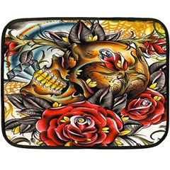 Flower Art Traditional Double Sided Fleece Blanket (mini)