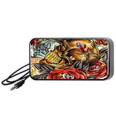 Flower Art Traditional Portable Speaker (black)