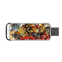 Flower Art Traditional Portable Usb Flash (one Side)