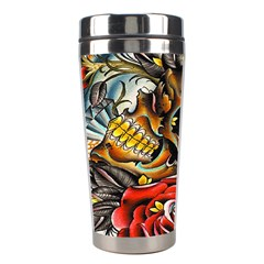 Flower Art Traditional Stainless Steel Travel Tumblers