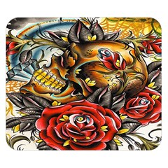 Flower Art Traditional Double Sided Flano Blanket (small)