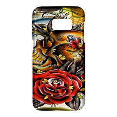 Flower Art Traditional Samsung Galaxy S7 Hardshell Case