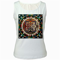 Colorful Mandala Women s White Tank Top