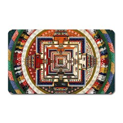 Colorful Mandala Magnet (rectangular)