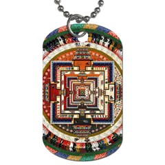 Colorful Mandala Dog Tag (two Sides)