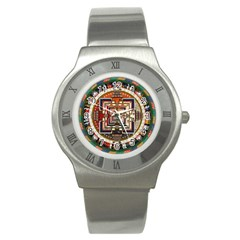 Colorful Mandala Stainless Steel Watch