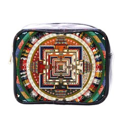 Colorful Mandala Mini Toiletries Bags