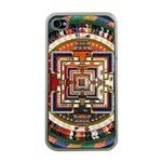 Colorful Mandala Apple iPhone 4 Case (Clear) Front