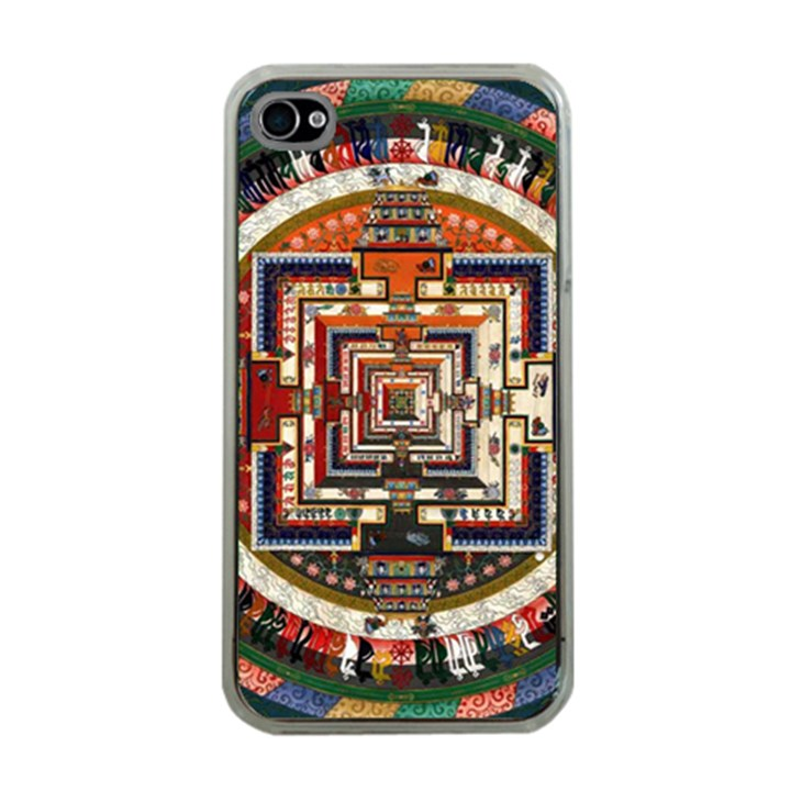 Colorful Mandala Apple iPhone 4 Case (Clear)