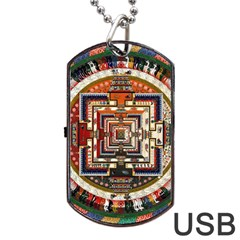 Colorful Mandala Dog Tag Usb Flash (two Sides)