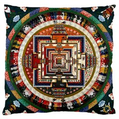 Colorful Mandala Large Flano Cushion Case (two Sides)