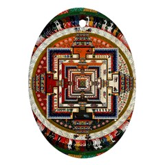 Colorful Mandala Oval Ornament (two Sides)