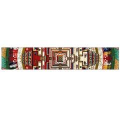 Colorful Mandala Flano Scarf (large)