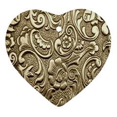 Golden European Pattern Ornament (heart)