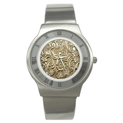 Golden European Pattern Stainless Steel Watch