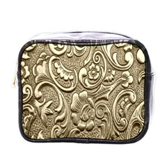 Golden European Pattern Mini Toiletries Bags