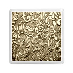 Golden European Pattern Memory Card Reader (square)