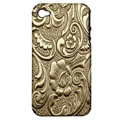 Golden European Pattern Apple Iphone 4/4s Hardshell Case (pc+silicone)