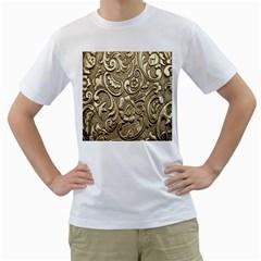 Golden European Pattern Men s T Shirt (white)