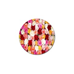 Rose Color Beautiful Flowers Golf Ball Marker
