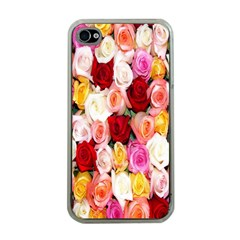 Rose Color Beautiful Flowers Apple Iphone 4 Case (clear)