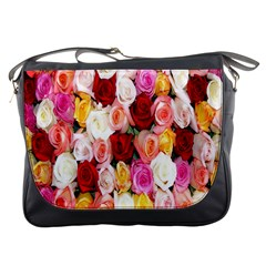 Rose Color Beautiful Flowers Messenger Bags