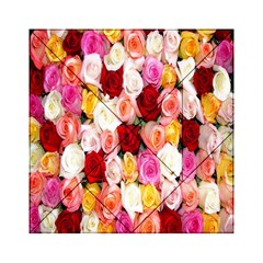 Rose Color Beautiful Flowers Acrylic Tangram Puzzle (6  X 6 )