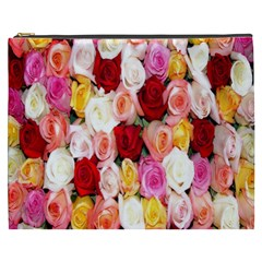 Rose Color Beautiful Flowers Cosmetic Bag (xxxl)