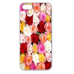 Rose Color Beautiful Flowers Apple Seamless Iphone 5 Case (clear)