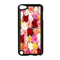 Rose Color Beautiful Flowers Apple Ipod Touch 5 Case (black)