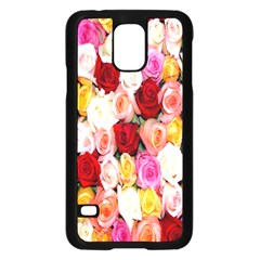 Rose Color Beautiful Flowers Samsung Galaxy S5 Case (black)