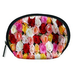 Rose Color Beautiful Flowers Accessory Pouches (medium)
