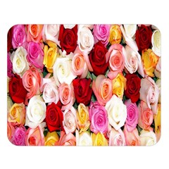 Rose Color Beautiful Flowers Double Sided Flano Blanket (large)