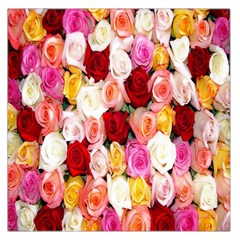 Rose Color Beautiful Flowers Large Satin Scarf (square)