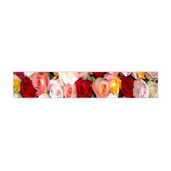 Rose Color Beautiful Flowers Flano Scarf (mini)
