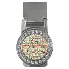 Backdrop Style With Texture And Typography Fashion Style Money Clips (cz)